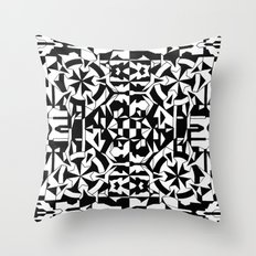 Black and White Square 1 Throw Pillow