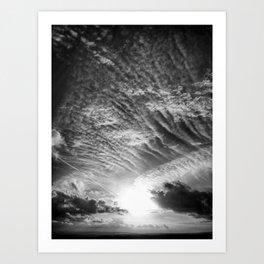 Burst - Black & White Art Print