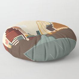 Austin Skyline Floor Pillow