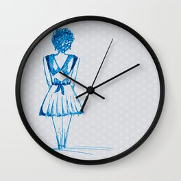 blue girl Wall Clock