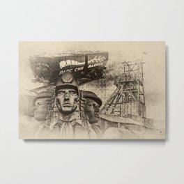 Mining Tribute Antique 2 Metal Print