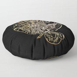 Elephant Mandala Floor Pillow