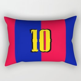 soccer team jersey number ten Rectangular Pillow