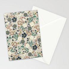 Flourishing Florals (Light-Green) Stationery Cards