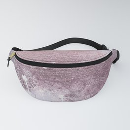 Dandelion Floral Drawing on Rose Gold Metal Fanny Pack