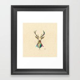 Illustrated Antelope Framed Art Print