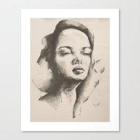 danny ivan Canvas Prints featuring Danny by Oriane Jouët