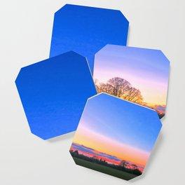 Sunset Over Norwich, U.K Coaster