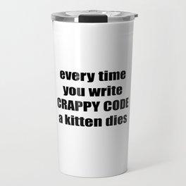 CRAPPY CODE Travel Mug