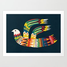 Native Bird Art Print