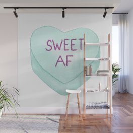 Sweet AF Valentine's Day Candy Heart Wall Mural