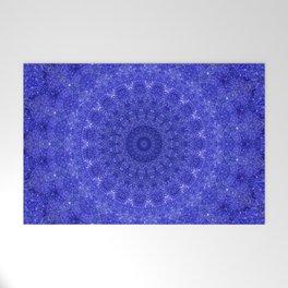 Cosmos Mandala II Cobalt Blue Welcome Mat