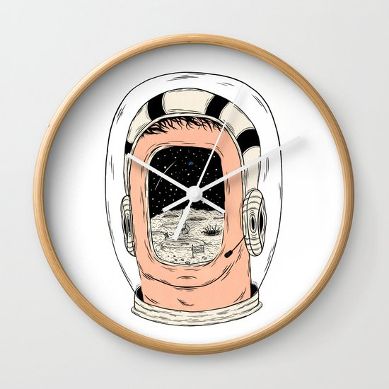 From the Earth to the Moon Wall Clock