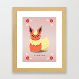 Evolution Bobbles - Flareon Framed Art Print