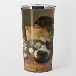 cute kitten 4 – John henry Dolph – playing kittens -pet,whikers,cat,kitty,kitten Travel Mug