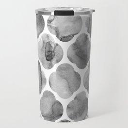 Black and White Tile Print Travel Mug