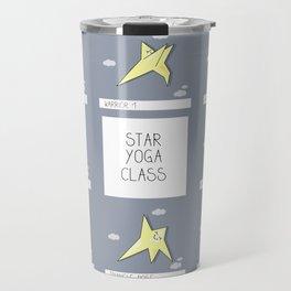Star yoga class cartoon illustration of the asanas Travel Mug