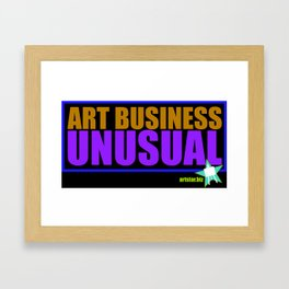 Business As Unusual Framed Art Print