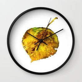Aspen Leaf 1 Wall Clock