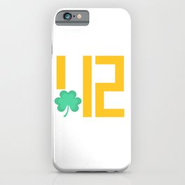 Pittsburgh St Patricks Day 412 Gold Gifts iPhone Case