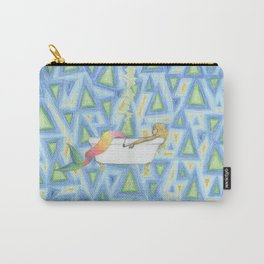 mermaid smoking in a bathtub Carry-All Pouch