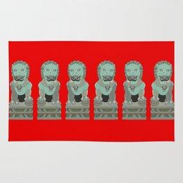 Lion Statues Rug