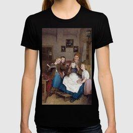 Ferdinand Georg Waldmüller Grandmother with Three Grandchildren T-shirt