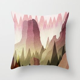 Canadian Peaks Throw Pillow