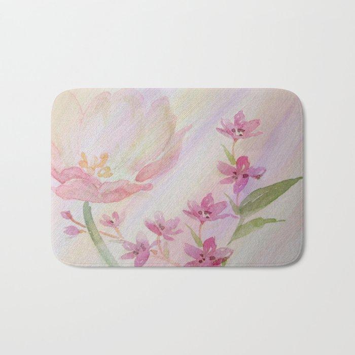 Spring Flowers - Painterly Bath Mat