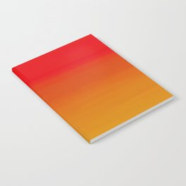 Red Apple and Golden Honey Ombre Sunset Notebook