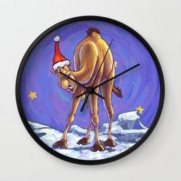 Camel Christmas Wall Clock