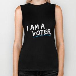 I Am a Voter Biker Tank