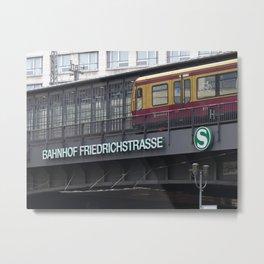 Berlin Friedrichstrasse, Station, Germany Metal Print