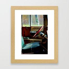 Bus Drivers Seat Framed Art Print