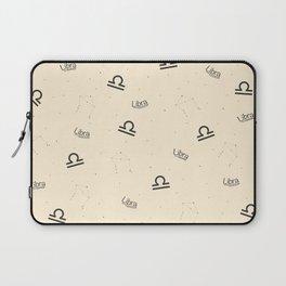 Libra Pattern - Beige Laptop Sleeve