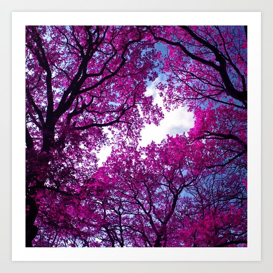 purple tree XVII Art Print