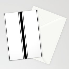 Black And White Stripes Stationery Cards