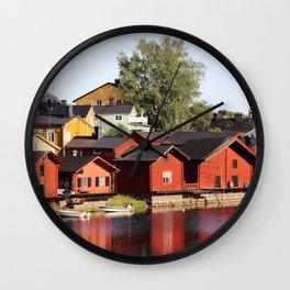 Old town Porvoo Finland Wall Clock