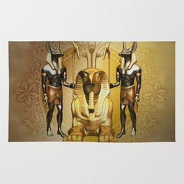Anubis the egyptian god Rug