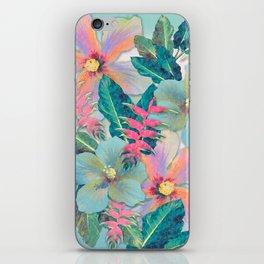 Aqua Ginger Alohas iPhone Skin