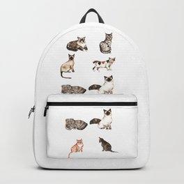 For cat lovers - watercolor of different cat breeds Backpack