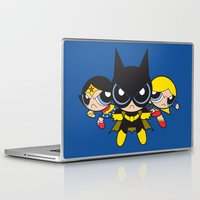 powerpuff girls Laptop & iPad Skins featuring Supertough Girls by Mandrie