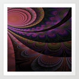 Boho Gypsy Romantic Swirl Art Print
