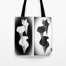 Calla Lillies. Black + White. Tote Bag