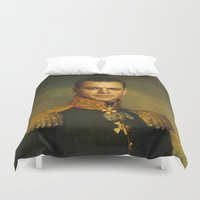 replaceface Duvet Covers featuring Matt Damon - replaceface by replaceface
