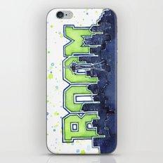 Seattle Legion of Boom Space Needle Skyline Watercolor iPhone & iPod Skin