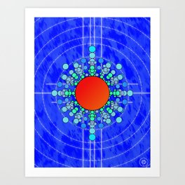 Bubbles and Ripples Art Print