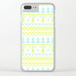 3 Knitted Christmas pattern in retro style pattern Clear iPhone Case