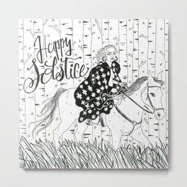 Happy Solstice Greeting Metal Print