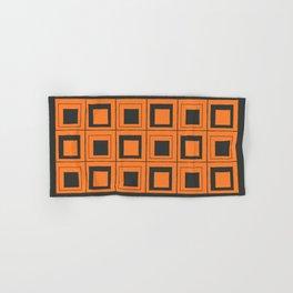Orange Squares Hand & Bath Towel